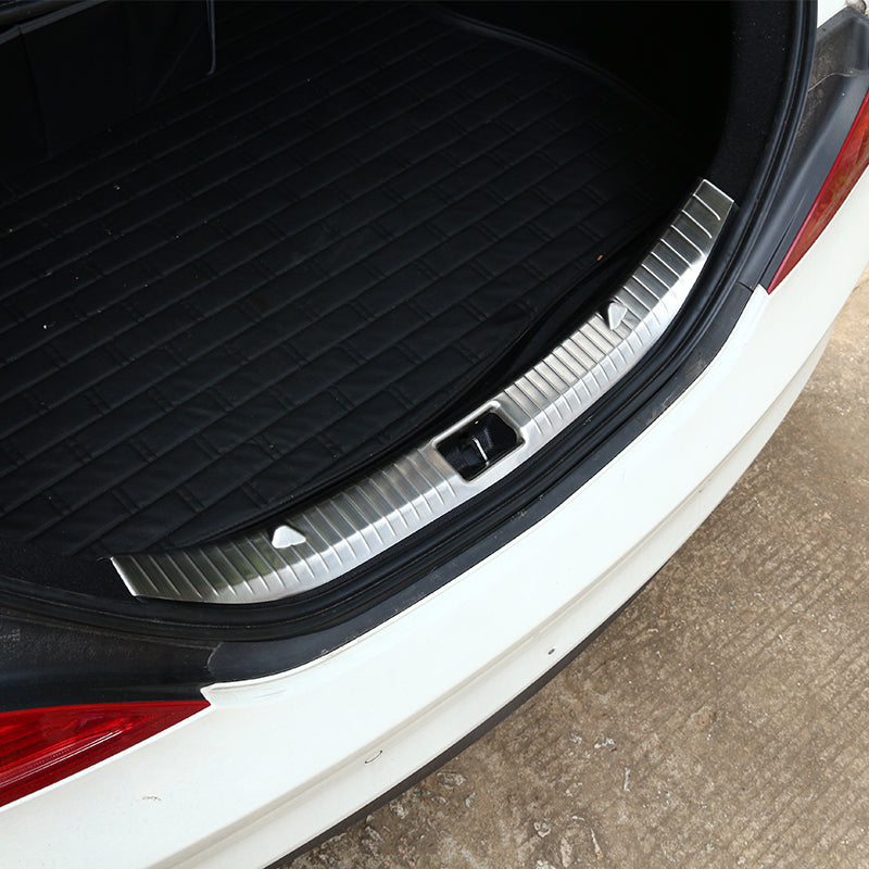 Stainless Rear Bumper Sill Protector For Mercedes Benz CLA Class W117 200 220 CLA260 15-17 304