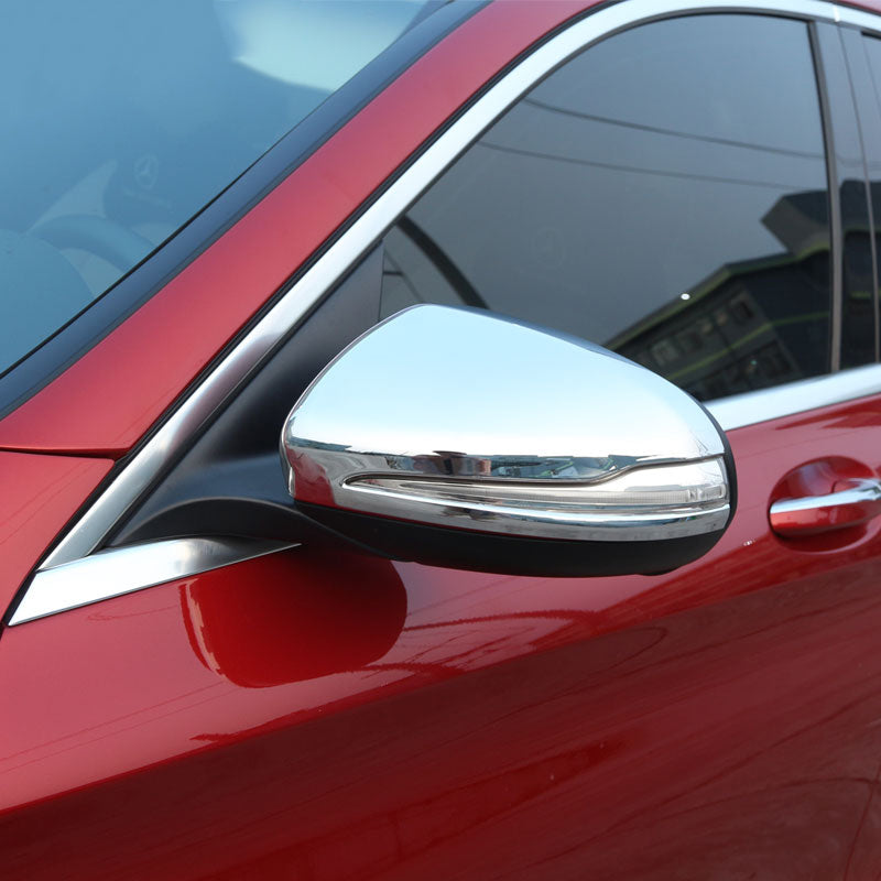 Chrome Side Mirror Cover For Mercedes benz GLC C-Class W205 C180 C200 C63 15-17,  - Any Car Accessories