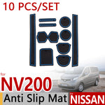 Anti-Slip Rubber Door Mat For Nissan NV200 Evalia 2010 2011 2012 2013 2014 2015 2016,  - Any Car Accessories
