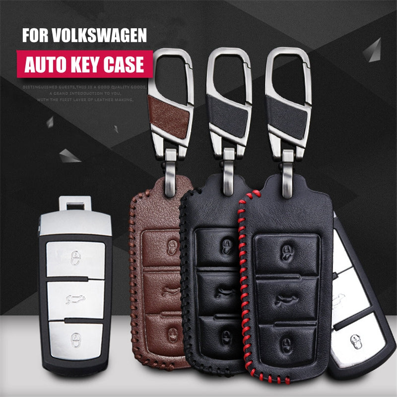 Leather Key Remote Cover For Volkswagen VW CC Passat,  - Any Car Accessories