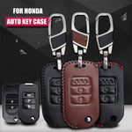 Leather Key Remote Case Cover For Honda Accord/Civic/CRV/Spirior,  - Any Car Accessories