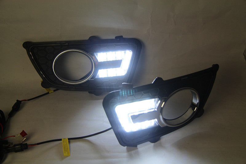 Daytime Running LED Fog Lights For KIA Sportage 2008 2009 2010 2011 2012 2013