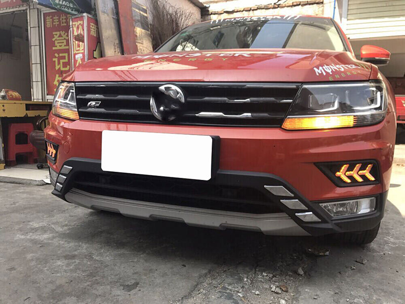 Daytime Running DRL Fog Lights For Volkswagen VW Tiguan 2017 2018 - Any Car Accessories