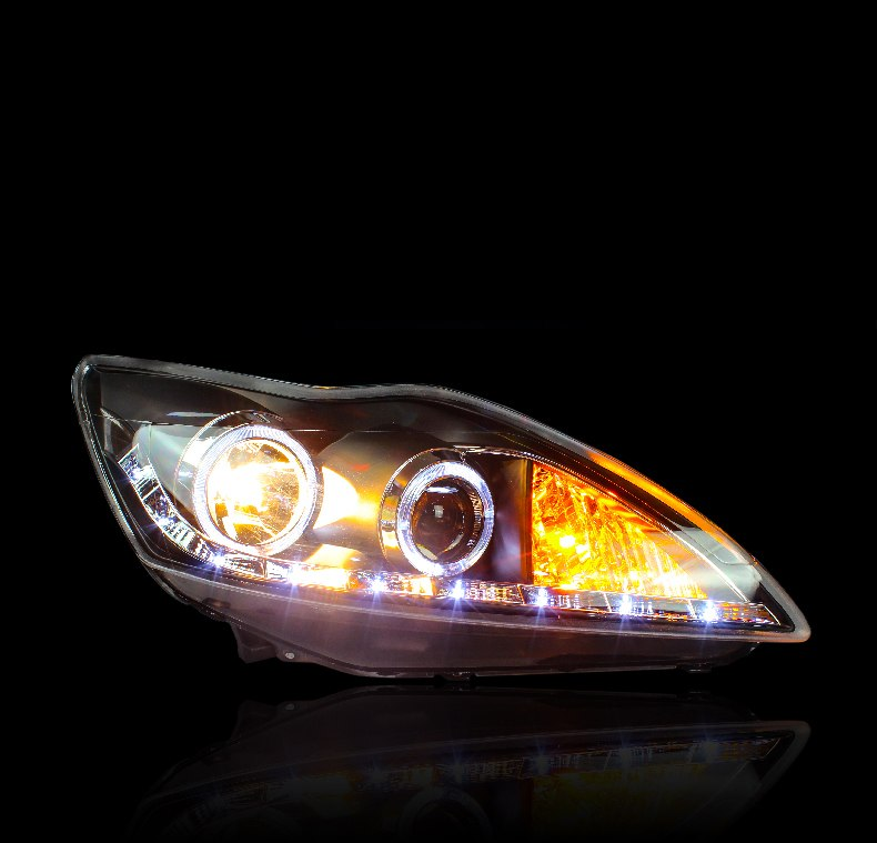 Led Drl Bi Xenon Headlights For Ford Focus  Any Car Accessories