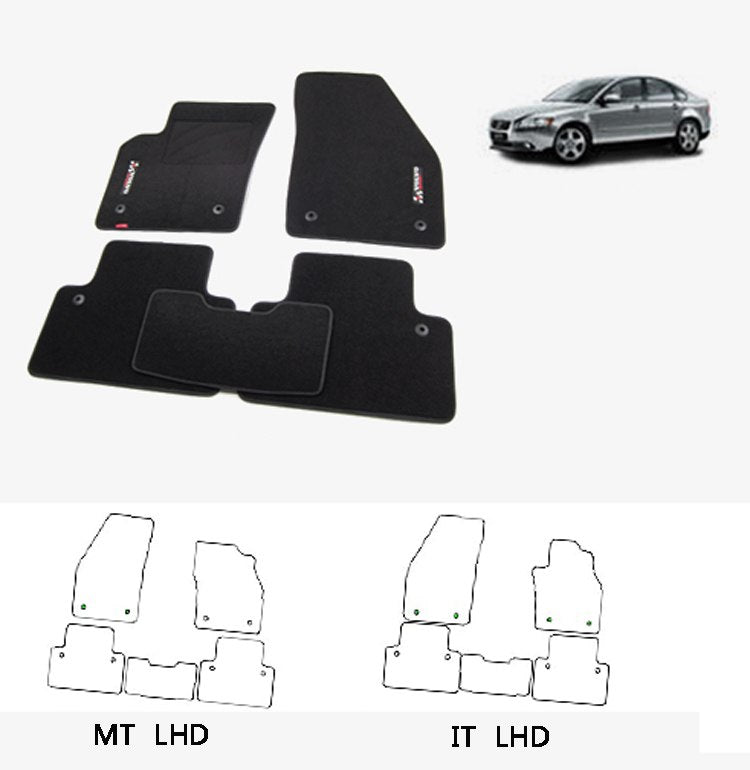 Premium Fabric Nylon Floor Mats Carpet For Volvo S40/V50 - Any Car Accessories