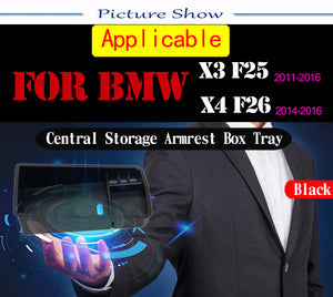 Central Armrest Storage Box Tray For BMW X3 f25 2011-2015/X4 f26 2014 2015,  - Any Car Accessories