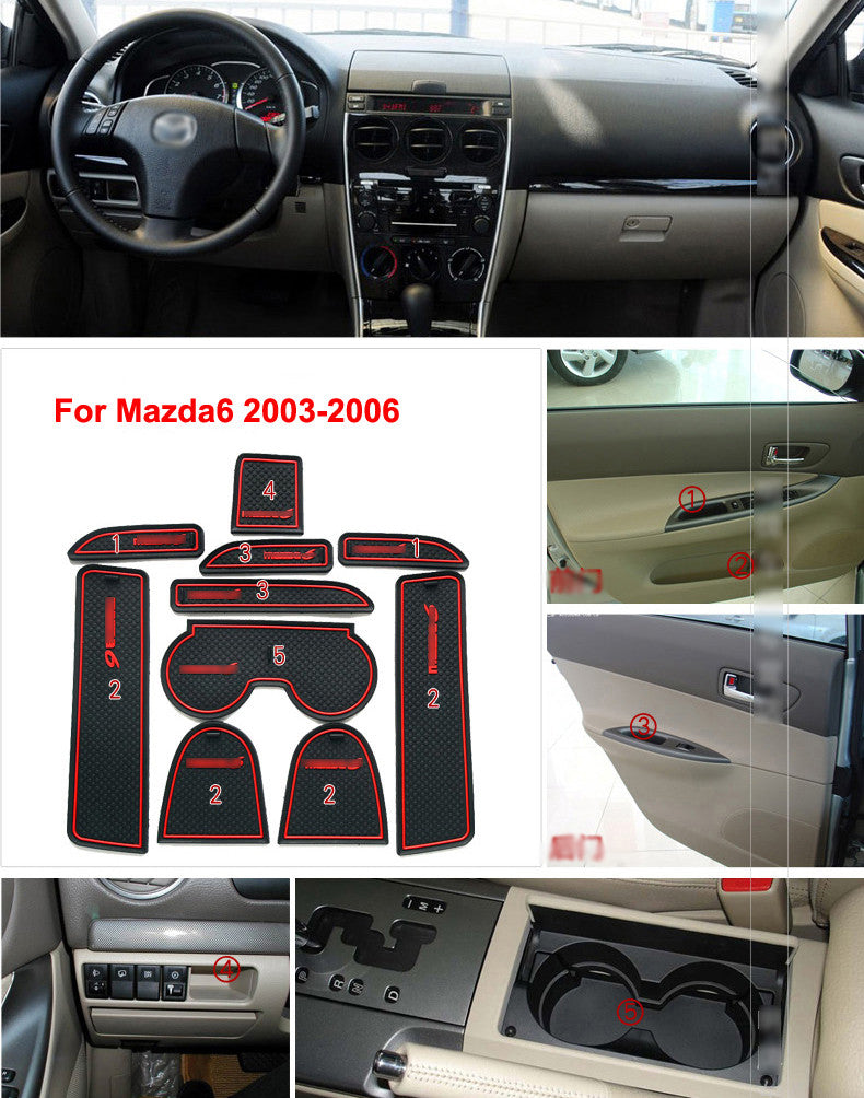 Rubber Door Mats For Mazda 6 2003-2005 - Any Car Accessories