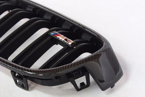 Genuine carbon fiber Grille For BMW 3 series 318i 320i 328i 330i 335i F30, F31, Exterior - Any Car Accessories