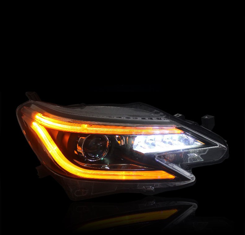LED DRL Bi-xenon Headlights For Toyota Reiz 2014 - Any Car Accessories