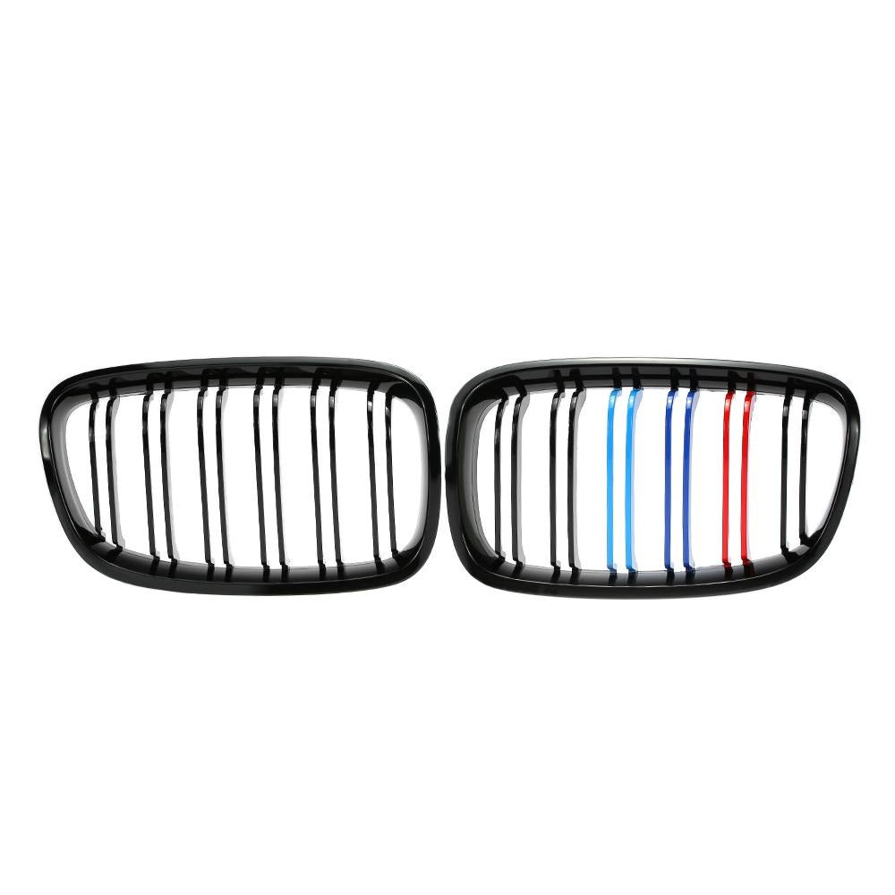 Grille for BMW F20 116i 118i 120i 125i 135i 2012-2014 Gloss Black Mixed 3 Color Grill, Exterior - Any Car Accessories