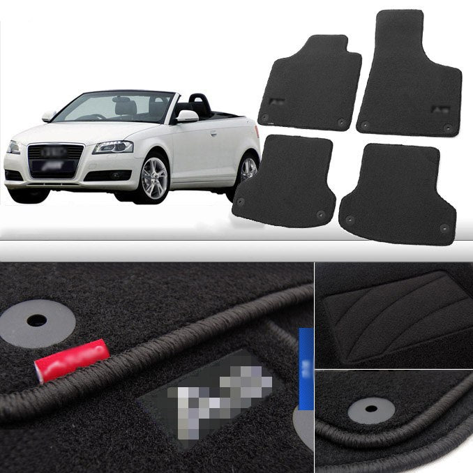 Premium Fabric Nylon Floor Mats Carpet For  Audi A3 2008-2015,  - Any Car Accessories