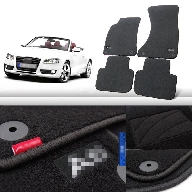 Premium Fabric Nylon Floor Mats Carpet For  Audi A5 2008-2015,  - Any Car Accessories