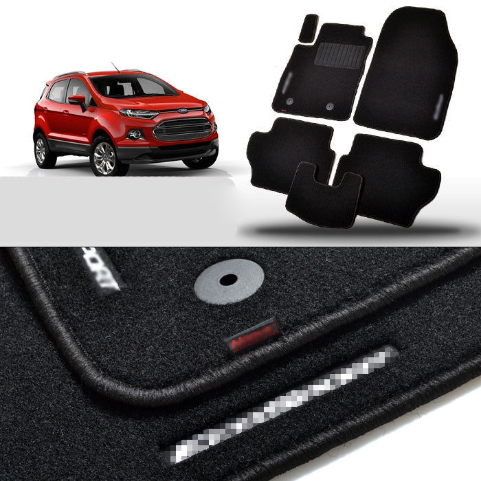Premium Fabric Nylon Floor Mats Carpet For Ford Ecosport 2013 2014 2015 - Any Car Accessories