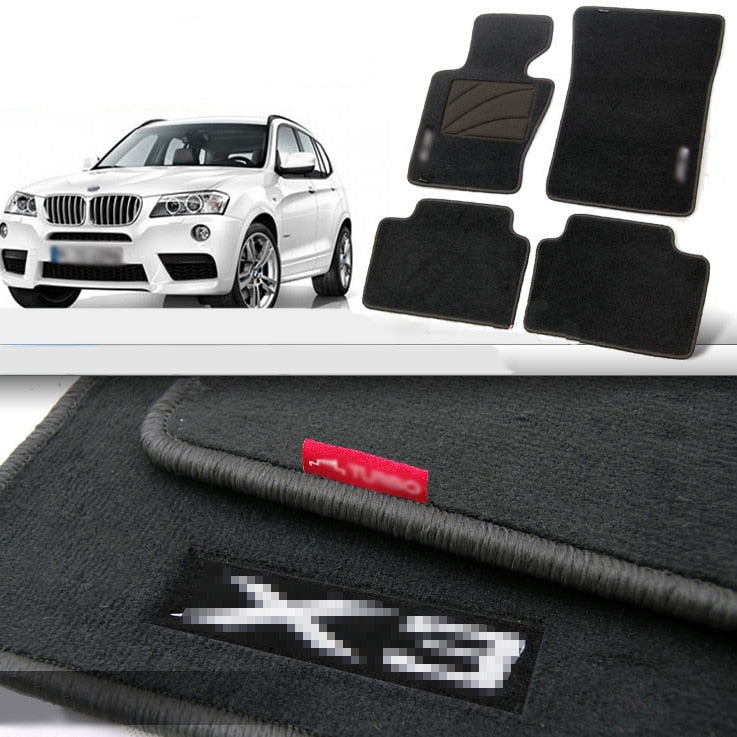 Premium Fabric Nylon Floor Mats Carpet For BMW X3 - Any Car Accessories