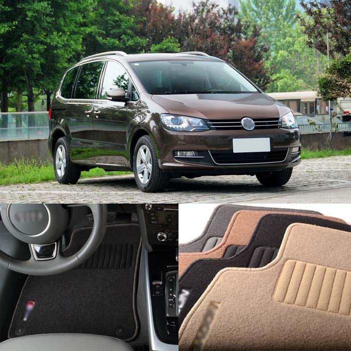 Fabric Carpet Nylon Floor Mats For VW Volkswagen Sharan 2002-2008,  - Any Car Accessories