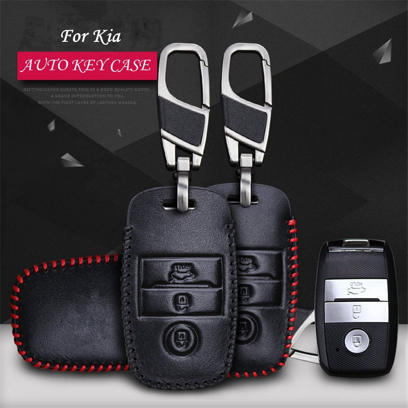 Leather Key Remote Case Cover For KIA K4 K5 KX3 KX5,  - Any Car Accessories
