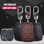 Leather Key Remote Case Cover For Cadillac XTS SLS CTS XTS SRX,  - Any Car Accessories