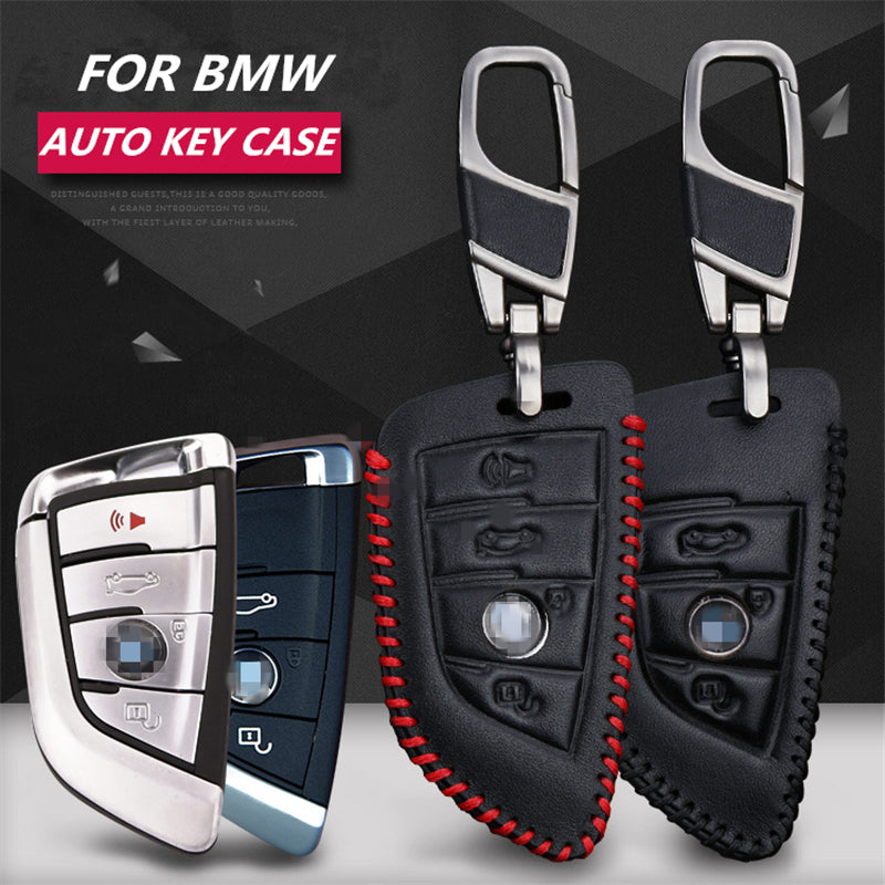 Leather Key Remote Case For BMW X5 F15 X6,  - Any Car Accessories