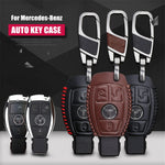 Leather Key Remote Cover For Mercedes W203 W210 W211 C E S CLS CLK CLA SLK,  - Any Car Accessories