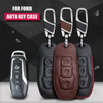 Luxury Leather Key Remote Case Cover  For Ford Mondeo,  - Any Car Accessories