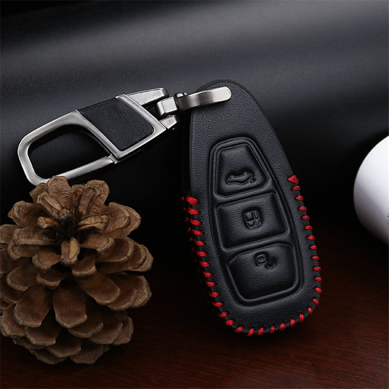 Leather Key Remote Cover For Ford Kuga / Eco sport,  - Any Car Accessories