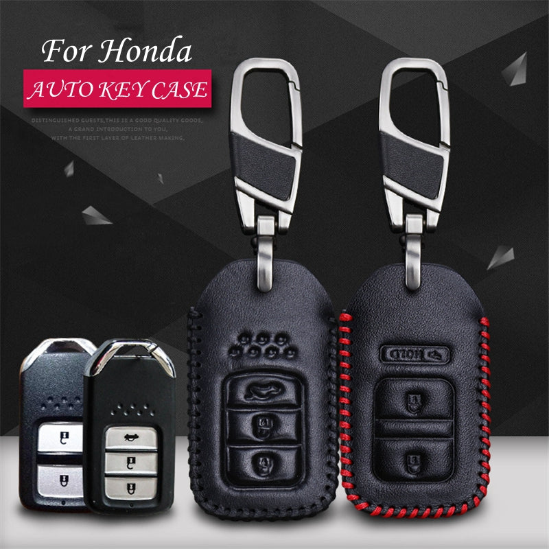 Leather Key Remote Cover For Honda CRV XRV Accord,  - Any Car Accessories