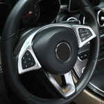 Chrome Steering Wheel Decoration For Mercedes Benz C GLC E Class W213 W205 2016 2017,  - Any Car Accessories