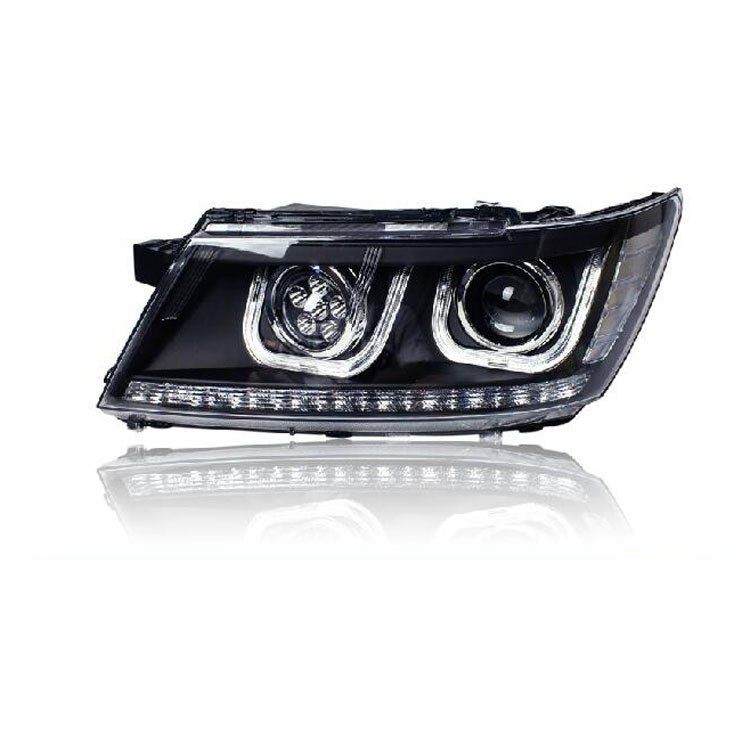 LED DRL Bi-xenon Headlights For Dodge JCUV 2009-2015 - Any Car Accessories