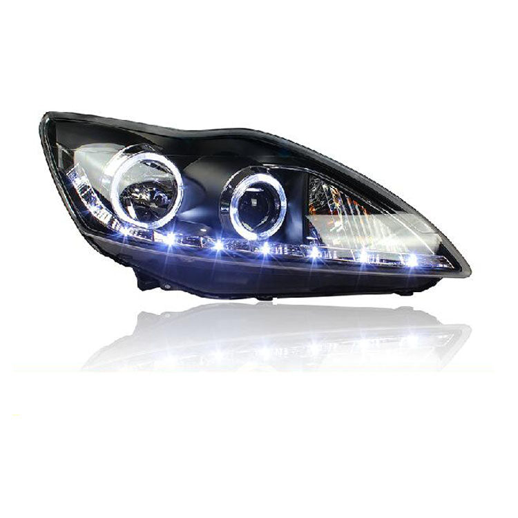 LED DRL Bi-xenon Headlights For Ford Focus 2009 2010 2011 - Any Car Accessories
