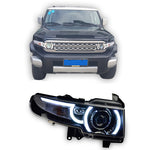 LED DRL Bi-xenon Lens Headlights For Toyota FJ Cruiser,  - Any Car Accessories