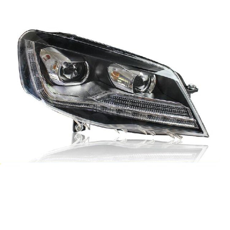 LED DRL Bi-xenon Headlights For Volkswagen VW Bora 2013 2014 2015 - Any Car Accessories