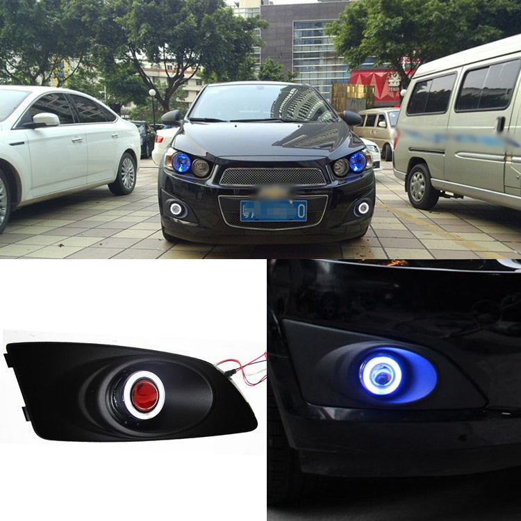 Daytime Running Angel Eye Fog Lights For Chevrolet Aveo,  - Any Car Accessories