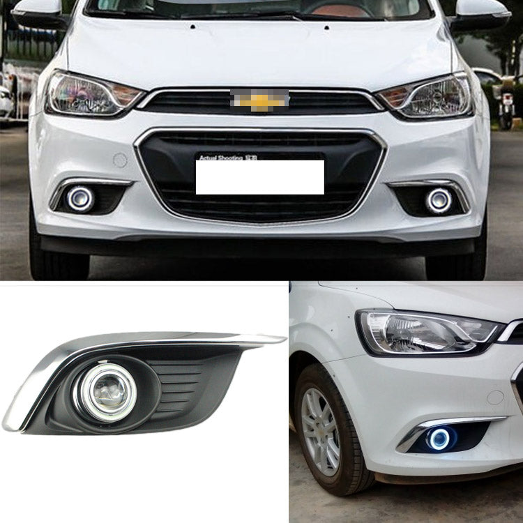 Daytime Running Angel Eye Fog Lights For Chevrolet Aveo 2014,  - Any Car Accessories
