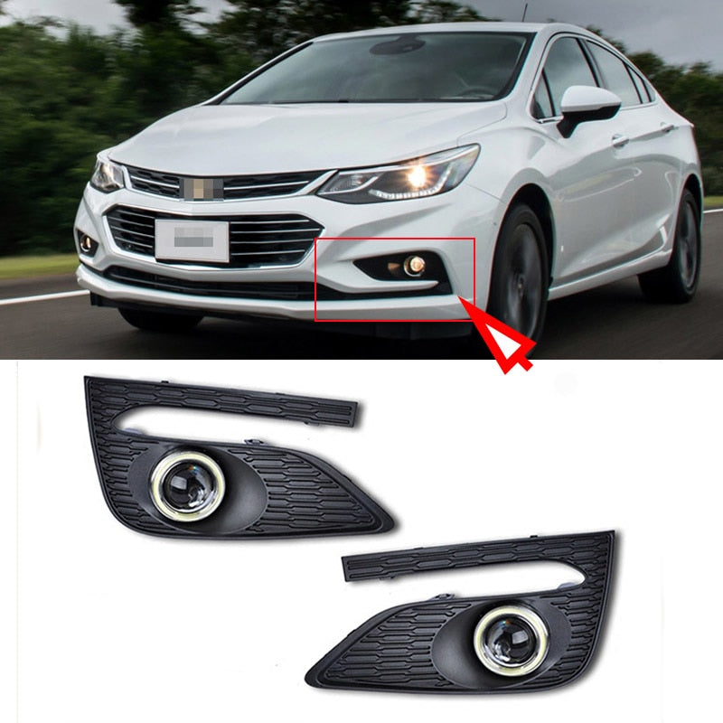 Daytime Running Angel Eye Fog Lights For Chevrolet Cruze 2017,  - Any Car Accessories