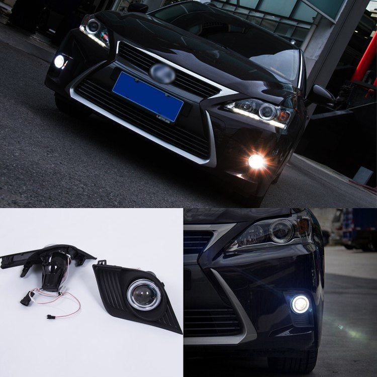 Daytime Running Angel Eyes Fog Lights For Lexus CT200 H 2014 - Any Car Accessories