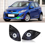 Daytime Running Angel Eye Fog Lights For Mazda 2 2012 - Any Car Accessories