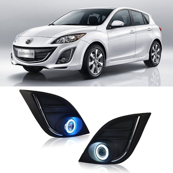 Daytime Running Angel Eye Fog Lights For Mazda 3 2011 2012 2013 2014 2015    Any ...