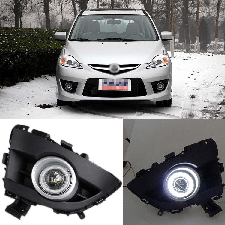 Daytime Running Angel Eyes Fog Lights For Mazda 5 2008 2009 2010 - Any Car Accessories