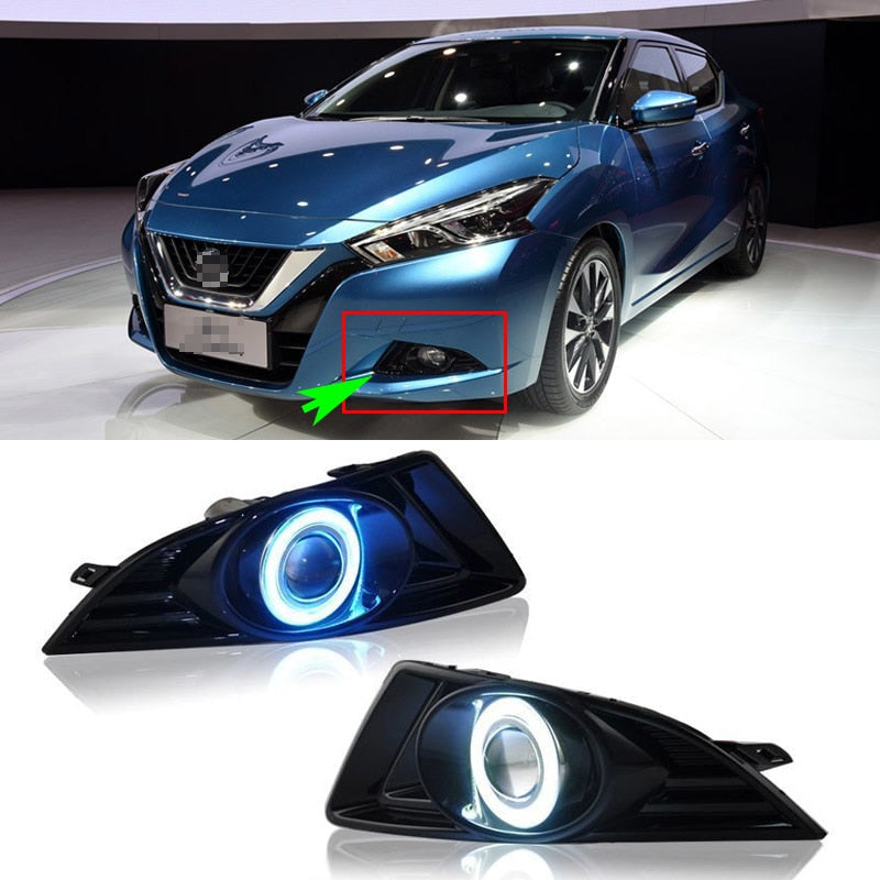 Daytime Running Angel Eye Fog Lights For Nissan Lannia 2016 - Any Car Accessories