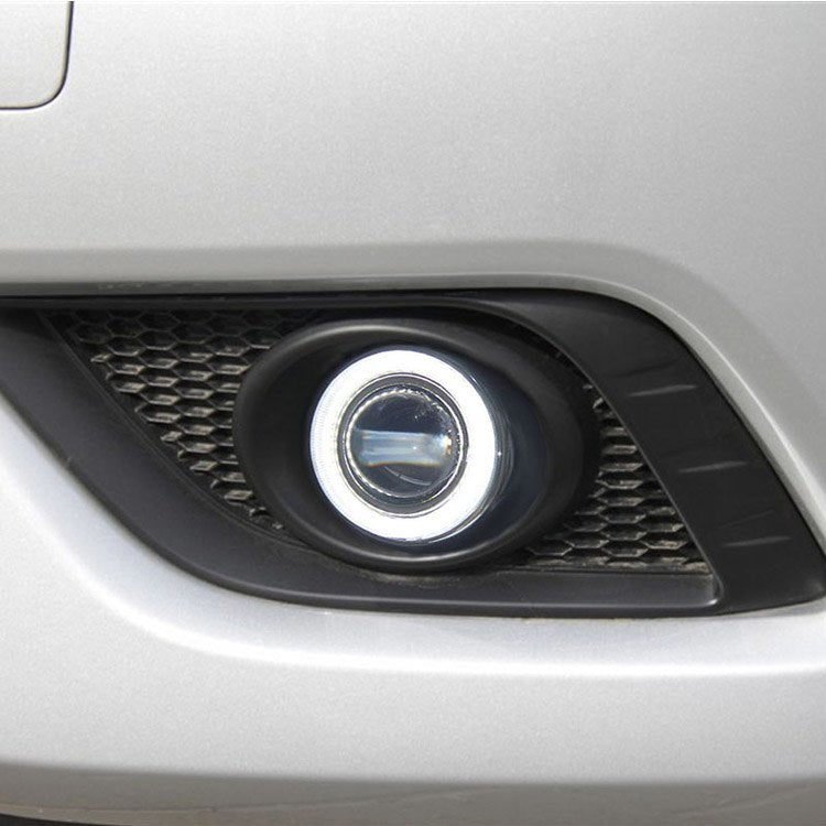 Daytime Running Angel Eyes Fog Lights For Nissan Livina 2013-2014 - Any Car Accessories