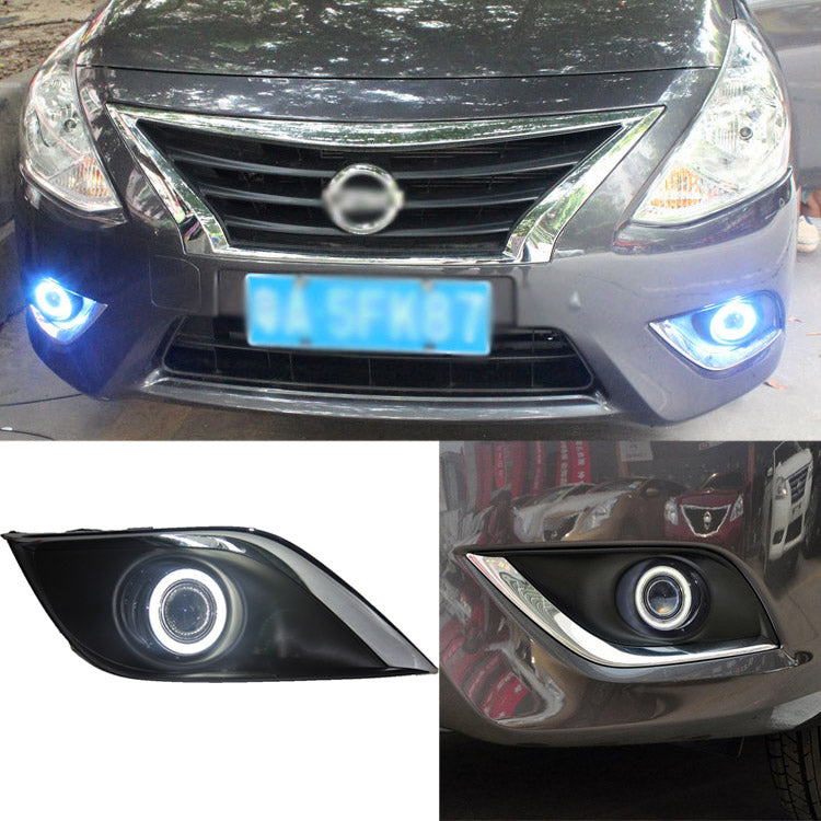 Daytime Running Angel Eye Fog Lights For Nissan Sunny 2014 - Any Car Accessories