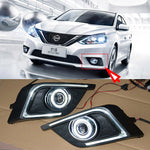 Daytime Running Angel Eye Fog Lights For Nissan Sylphy 2016 - Any Car Accessories