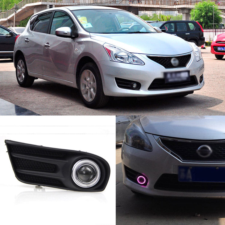 Daytime Running Angel Eye Fog Lights For Nissan Tiida 2011-2014 - Any Car Accessories