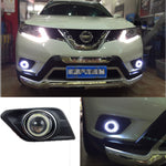 Daytime Running Angel Eye Fog Lights For Nissan X-Trail 2014 2015 2016 - Any Car Accessories
