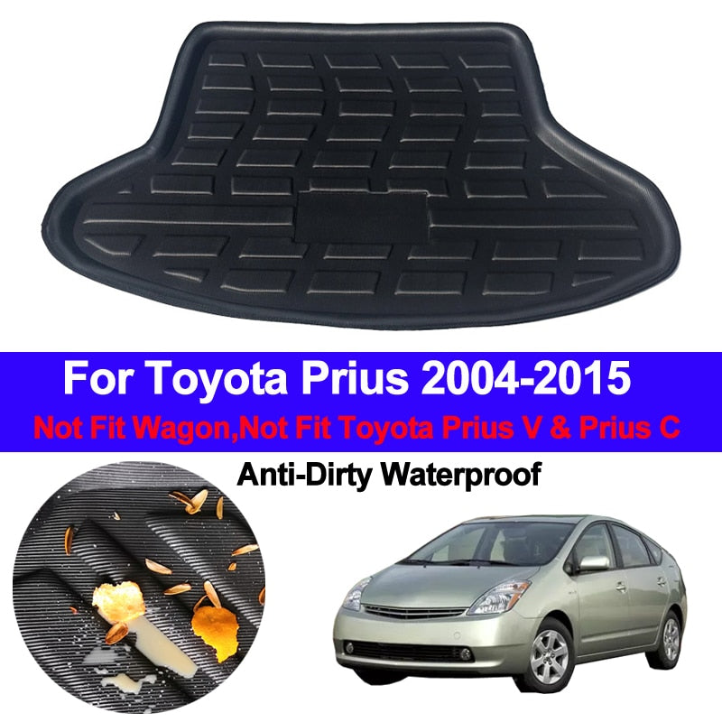 Trunk Mat Carpet Cover For Toyota Prius 2004 - 2013 2014 2015  Hatchback Liftback