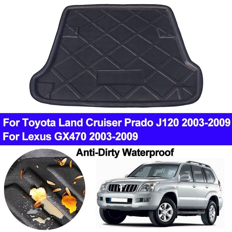 Trunk Mat Carpet Cover For Toyota Land Cruiser Prado J120 For Lexus GX470 2003 - 2007 2008 2009,  - Any Car Accessories