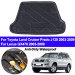Trunk Mat Carpet Cover For Toyota Land Cruiser Prado J120 For Lexus GX470 2003 - 2007 2008 2009