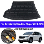 Trunk Mat Carpet Cover For Toyota Highlander Kluger 2014 2015 2016 2017 2018