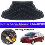 Trunk Mat Carpet Cover For Toyota Yaris Vios Belta Limo 2007 - 2012 2013 4 Door Sedan
