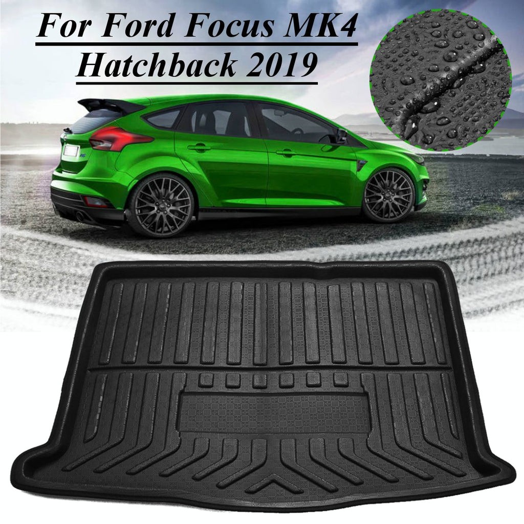 Trunk Mat Carpet Cover For Ford Focus MK4 Hatchback 2019+,  - Any Car Accessories